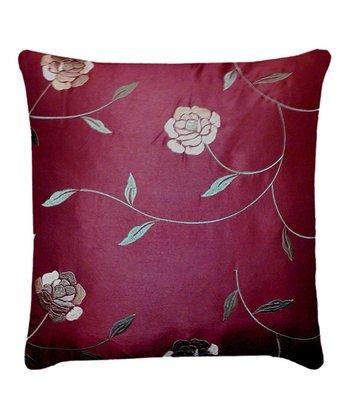 Burgundy & Taupe Annabelle Throw Pillow