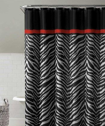 Black Kara Shower Curtain Set