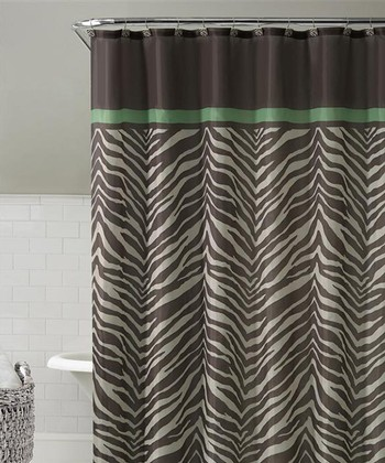 Brown Kara Shower Curtain Set