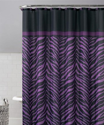 Purple Kara Shower Curtain Set