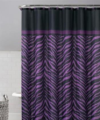 Purple Kara Shower Curtain Set