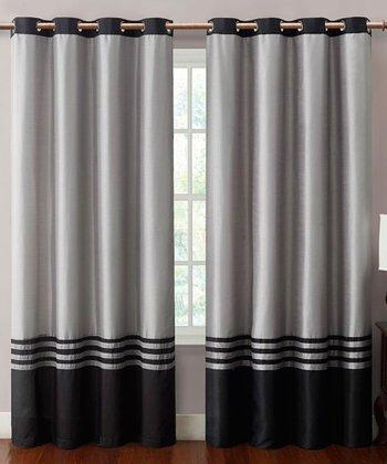 Black & Gray Barclay Curtain Panel