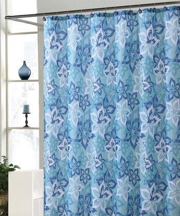Blue Bradley Shower Curtain Set
