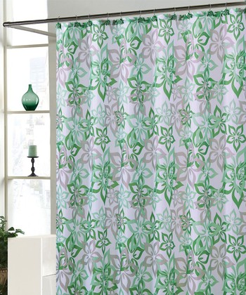 Green Bradley Shower Curtain Set