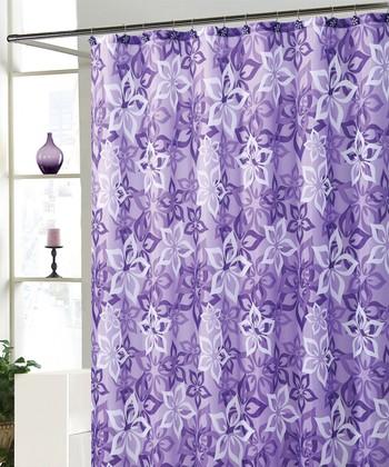 Purple Bradley Shower Curtain Set