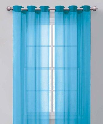 Aqua Carlson Curtain Panel