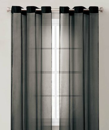 Black Carlson Curtain Panel