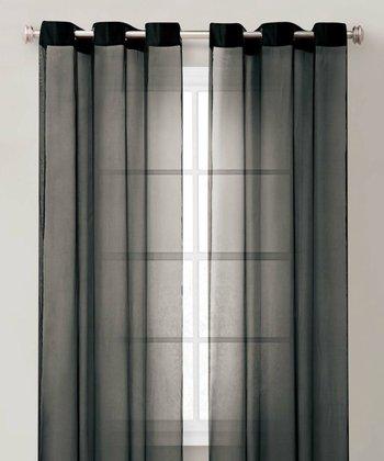 Black Carlson Curtain Panel