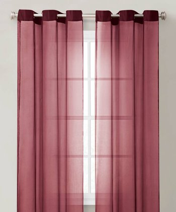 Burgundy Carlson Curtain Panel