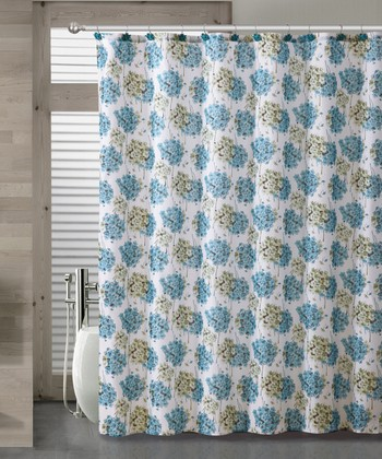 Blue Carolina Shower Curtain Set