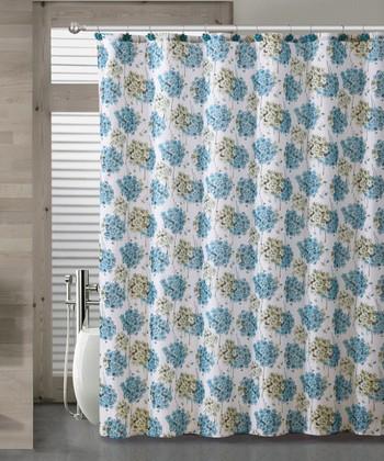 Blue Carolina Shower Curtain Set