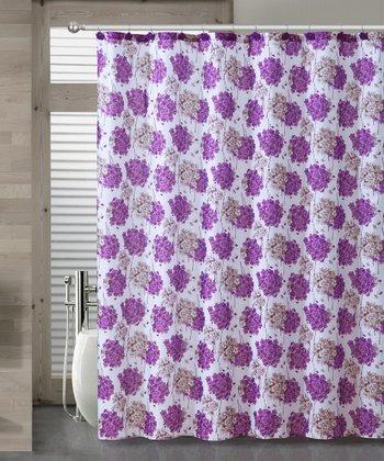 Purple Carolina Shower Curtain Set