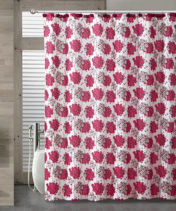 Red Carolina Shower Curtain Set