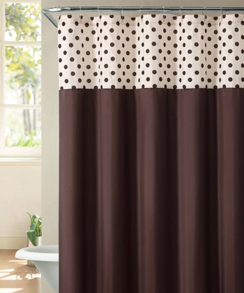 Brown & Ivory Flocked Caitlin Shower Curtain