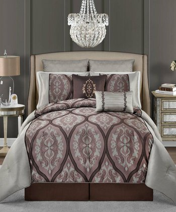 Purple Valerie Comforter Set