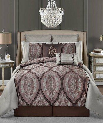 Purple Valerie Comforter Set