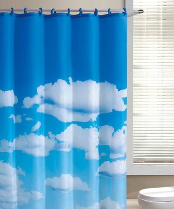Blue Cloudy Day Shower Curtain