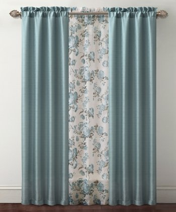 Blue Shanna Curtain Panel Set