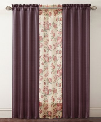 Burgundy Shanna Curtain Panel Set