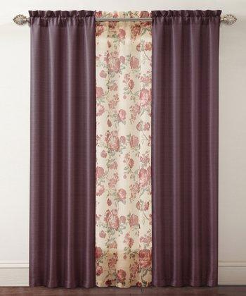 Burgundy Shanna Curtain Panel Set