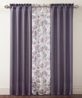 Purple Shanna Curtain Panel Set