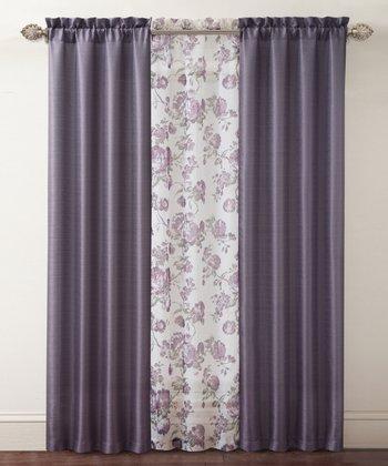 Purple Shanna Curtain Panel Set