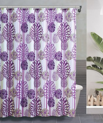 Purple Cameron Shower Curtain Set