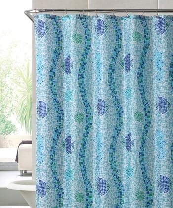 Blue Catalina Shower Curtain Set