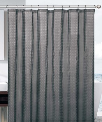 Black Cube Eva Shower Curtain