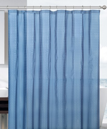 Blue Cube Eva Shower Curtain
