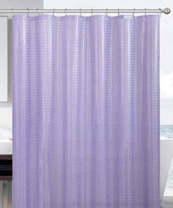 Purple Cube Eva Shower Curtain