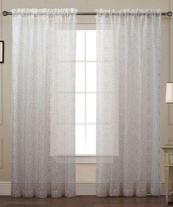 Ivory Debbie Curtain Panel