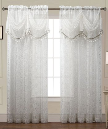 White Debbie Curtain Panel