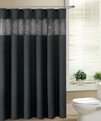 Black Fame Shower Curtain