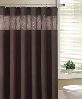 Chocolate Fame Shower Curtain