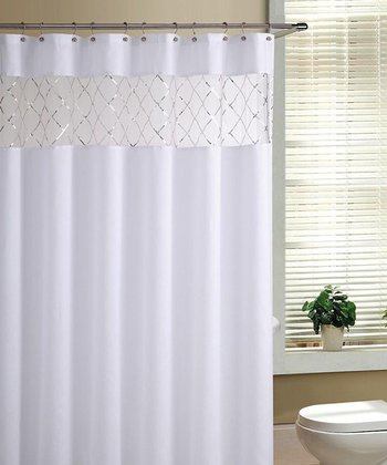 White Fame Shower Curtain