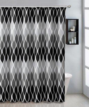 Black Jansen Shower Curtain Set