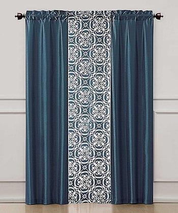 Blue Kennedy Curtain Panel Set