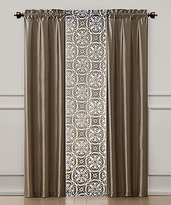 Natural Kennedy Curtain Panel Set