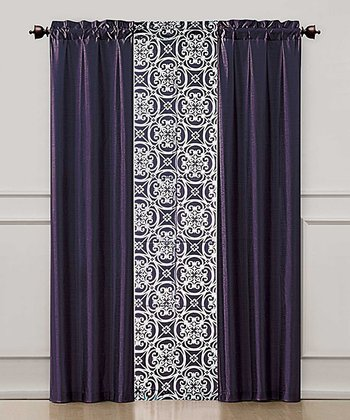 Purple Kennedy Curtain Panel Set