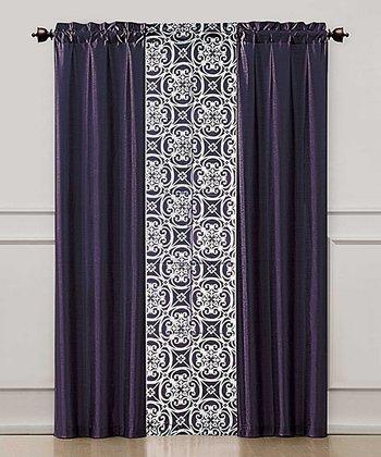 Purple Kennedy Curtain Panel Set