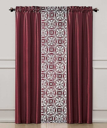 Red Kennedy Curtain Panel Set