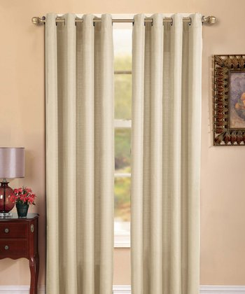 Beige Manchester Curtain Panel