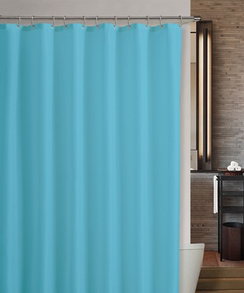 Aqua Marcy Shower Curtain