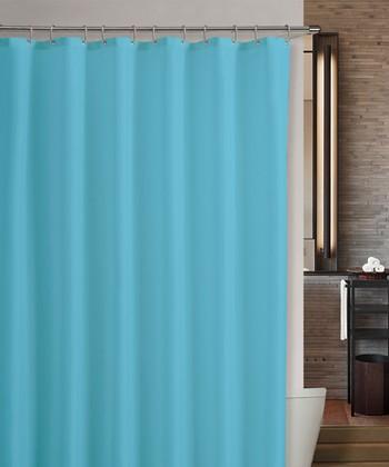 Aqua Marcy Shower Curtain