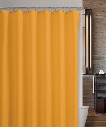 Orange Marcy Shower Curtain