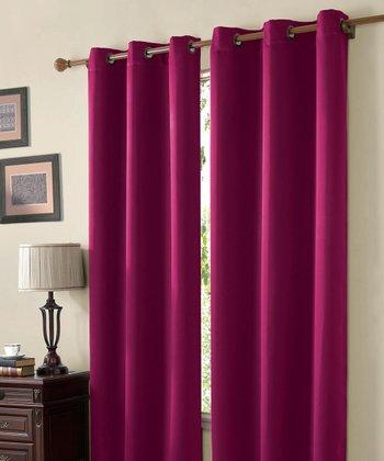 Pink Mckenzie Twill Blackout Curtain Panel