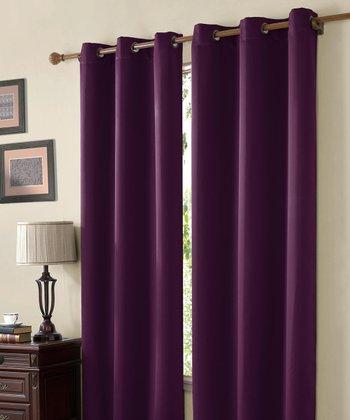 Purple Mckenzie Twill Blackout Curtain Panel