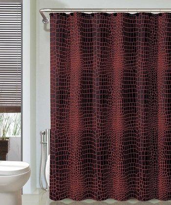 Red & Black Nomad Shower Curtain