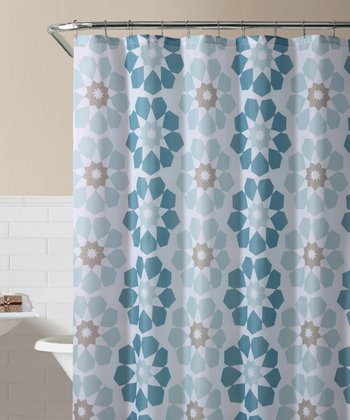 Blue Pandora Shower Curtain